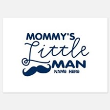 Custom Mommy's Little Man 5x7 Flat Cards