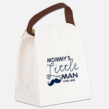 Custom Mommy's Little Man Canvas Lunch Bag