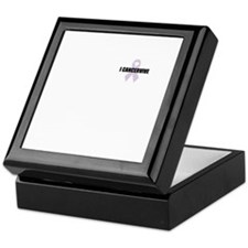 general cancer ribbon Keepsake Box