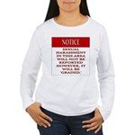 Femdiom NOTICE repo... Long Sleeve T-Shirt