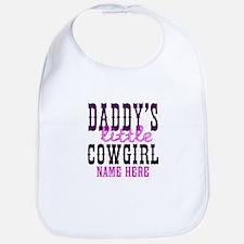 Custom Daddy's Little Cowgirl Bib