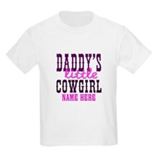 Custom Daddy's Little Cowgirl T-Shirt
