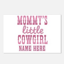 Personalized Mommy's Little Cowgirl Postcards (Pac