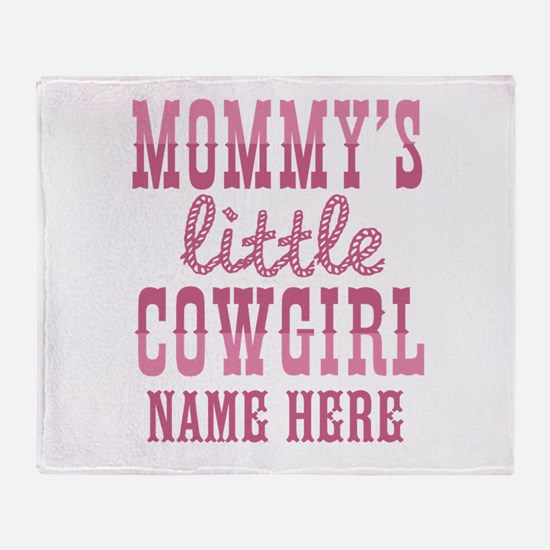 Personalized Mommy's Little Cowgirl Throw Blanket