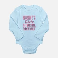 Personalized Mommy's Little Cowgirl Long Sleeve In