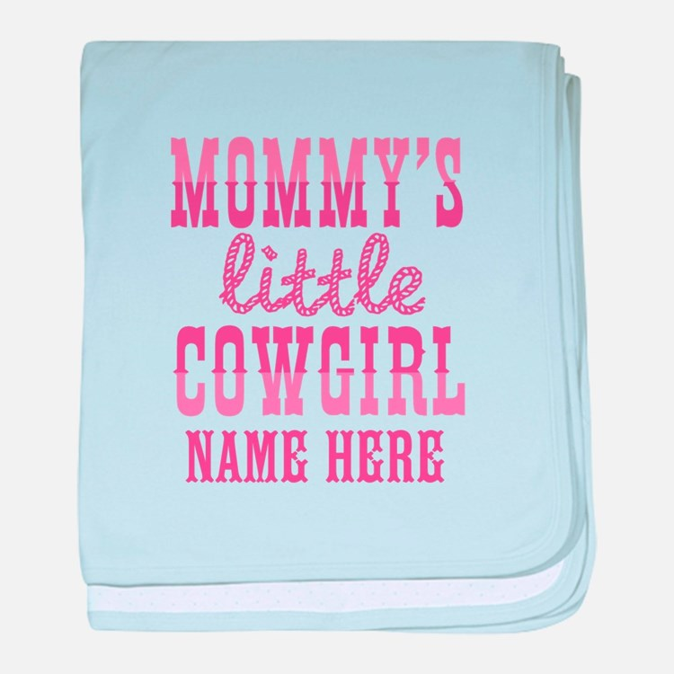 Personalized Mommy's Little Cowgirl baby blanket