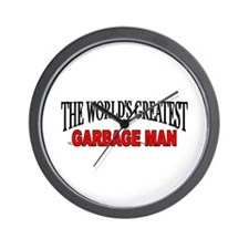 """The World's Greatest Garbage Man"" Wall Clock"