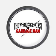 """""""The World's Greatest Garbage Man"""" Wall Clock"""