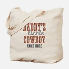 Add Name Daddy's Little Cowboy Tote Bag