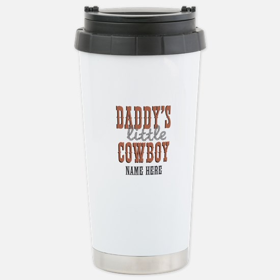 Add Name Daddy's Little Cowboy Stainless Steel Tra
