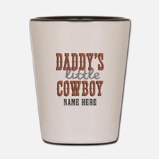 Add Name Daddy's Little Cowboy Shot Glass