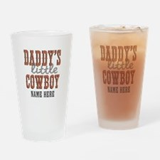 Add Name Daddy's Little Cowboy Drinking Glass