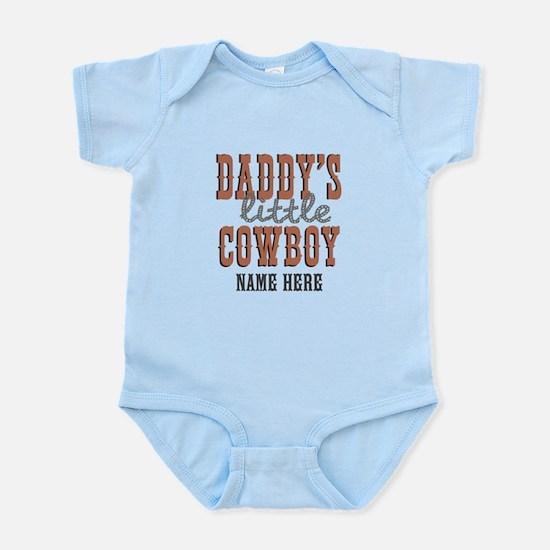 Add Name Daddy's Little Cowboy Infant Bodysuit