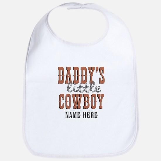Add Name Daddy's Little Cowboy Bib