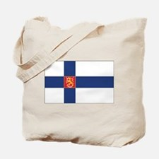 Finland State Flag Tote Bag