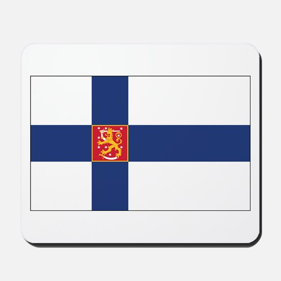Finland State Flag Mousepad