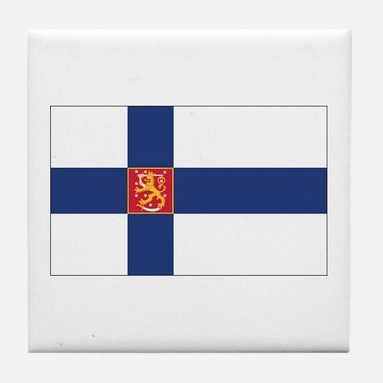 Finland State Flag Tile Coaster