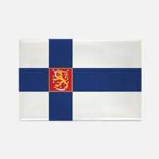 Finland State Flag Rectangle Magnet