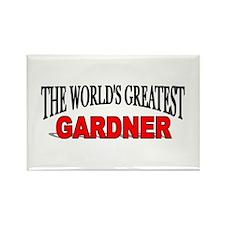 """""""The World's Greatest Gardner"""" Rectangle Magnet"""
