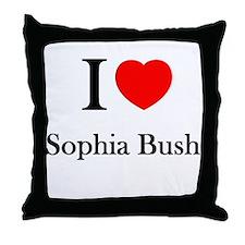 I love Sophia Bush Throw Pillow