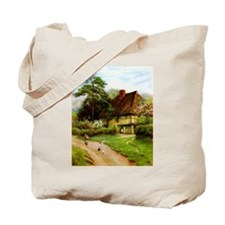 Old English Country Cottage Tote Bag