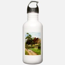 Old English Country Cottage Water Bottle