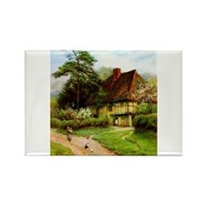 Old English Country Cottage Rectangle Magnet