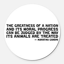 Cool Animal rights Round Car Magnet