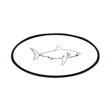 Great White Shark (line art) Patches