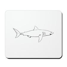 Great White Shark (line art) Mousepad