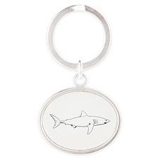 Great White Shark (line art) Keychains
