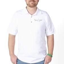 Great White Shark (line art) T-Shirt