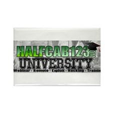 Halfcab123 University Rectangle Magnet