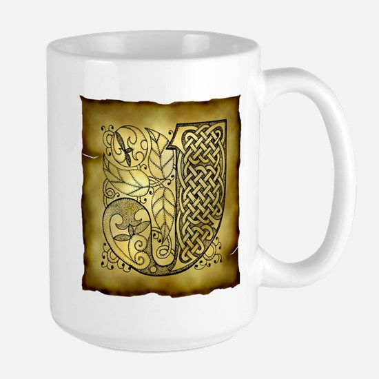 Celtic Letter J Large Mug