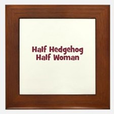 Half HEDGEHOG Half Woman Framed Tile