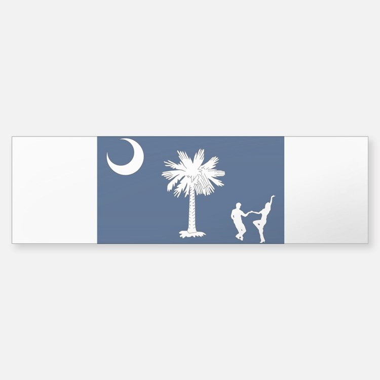 The South Carolina Shag Flag Bumper Bumper Bumper Sticker