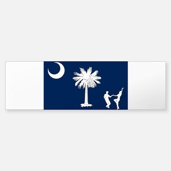 The South Carolina Shag Flag Bumper Car Car Sticker