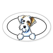 Sealyham Badger Off-Leash Art™ Peeking Decal