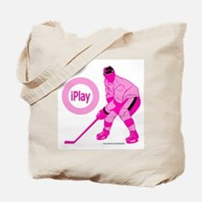 I Play Hockey Tote Bag