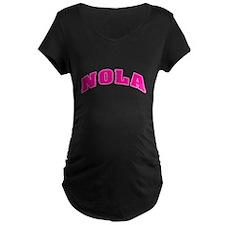 NOLAPnkBlkLettran.png Maternity T-Shirt