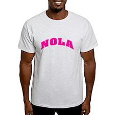 NOLAPnkBlkLettran.png T-Shirt