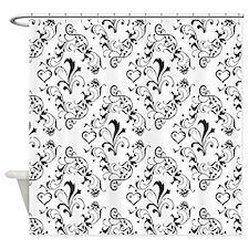 Black & White Damask #21 Shower Curtain
