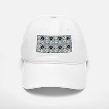 Floral design on blue Baseball Baseball Baseball Cap