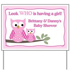 Brittany and Dannys Baby Shower Yard Sign