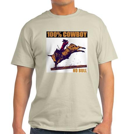 100% Cowboy No Bull Ash Grey T-Shirt