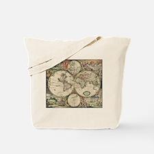 World Map 1671 Tote Bag