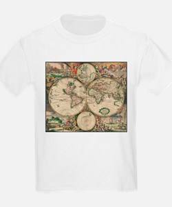 World Map 1671 T-Shirt