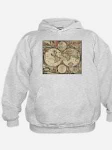 World Map 1671 Hoodie