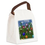 Cuddles by the fence Canvas Lunch Bag