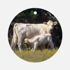 cow and calf Ornament (Round)